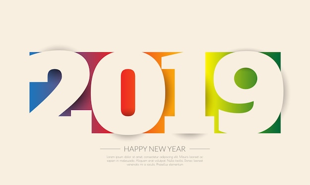 2019 calendar template vector