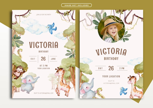 free jungle invitation vectors 1 000