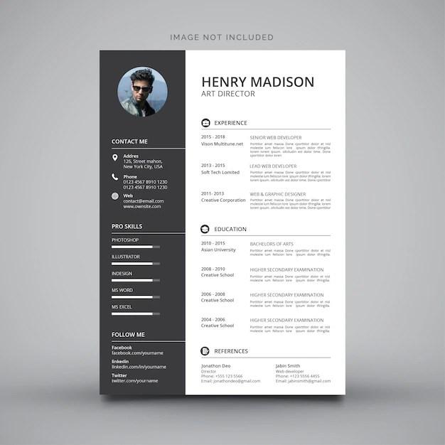 Resume Templates Photoshop