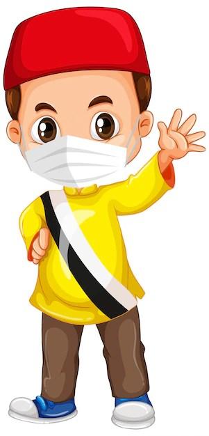 Animasi Memakai Masker Png : animasi, memakai, masker, Muslim, Images, Vectors,, Stock, Photos