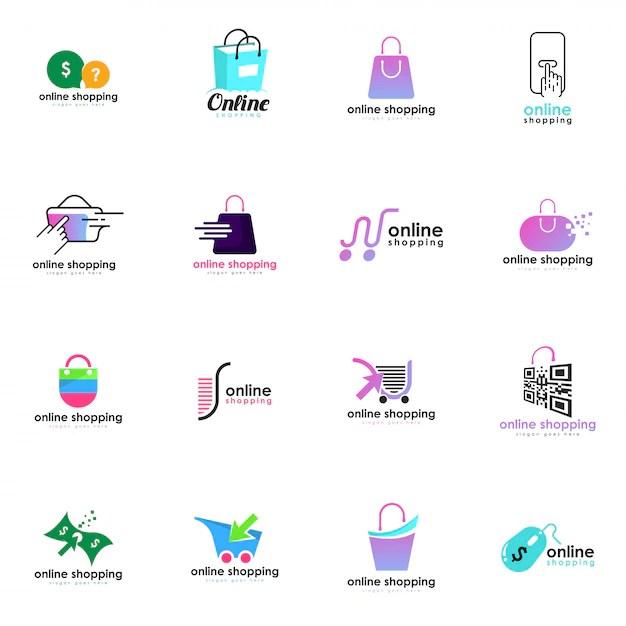 shopping cart logo vectors