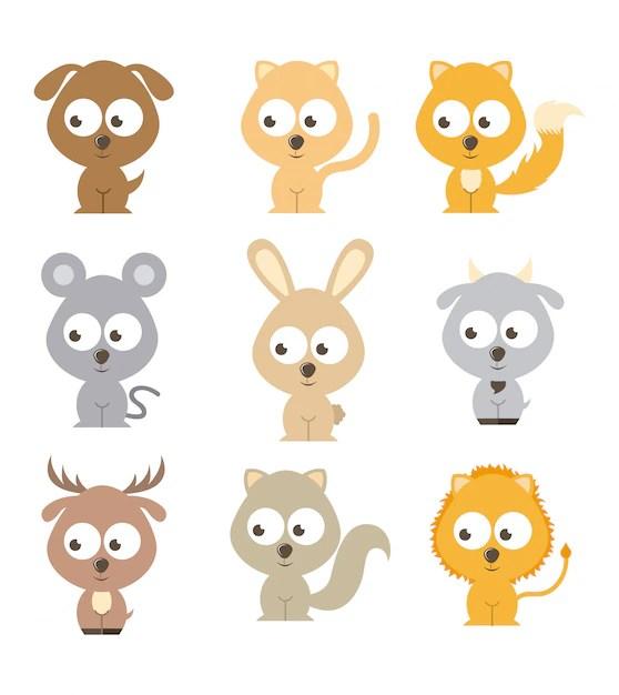 cartoon pets vectors vector