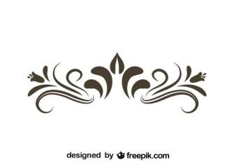Retro Fl Decorative Graphic Element