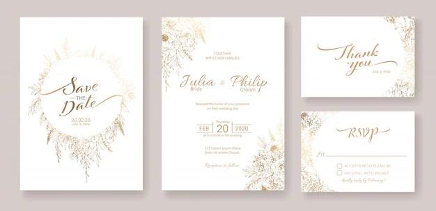 gold wedding invitation images free