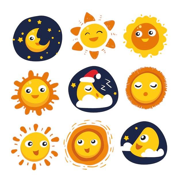 sun moon vectors photos