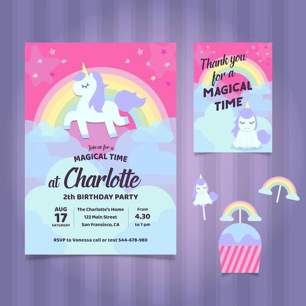 unicorn invitation images free
