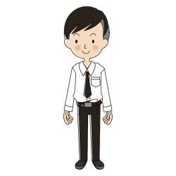 Premium Vector University student with uniform