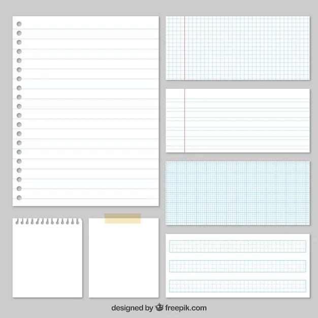 sheet of paper vectors