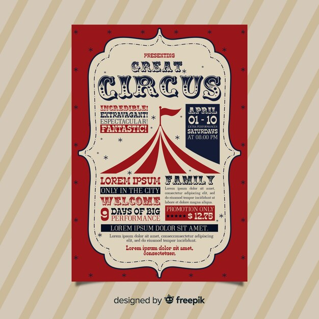 circus invitation images free vectors