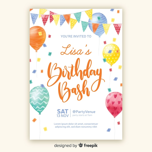 birthday invitation images free