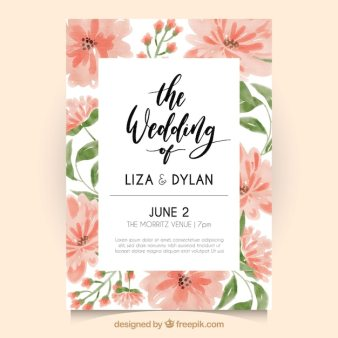 Wedding Invitation Card Vector Graphic Template Heart