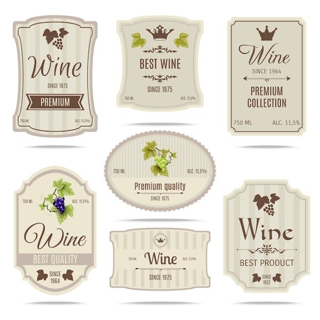 wine label vectors photos