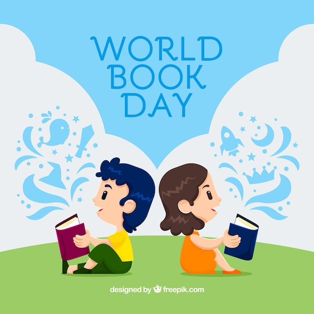 World book day background with kids reading also vectors photos and psd files free download rh freepik