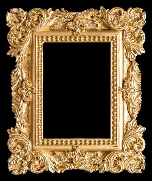 style baroque objet vintage fond noir