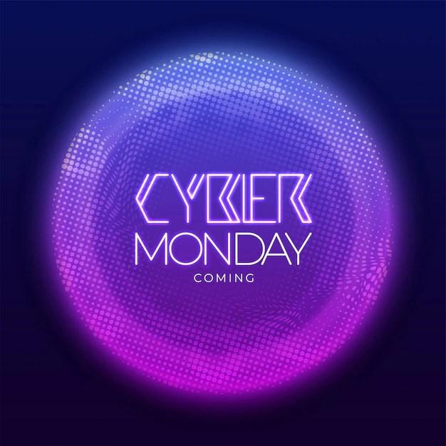 Bannière Neon Cyber Lundi Télécharger Des Vecteurs