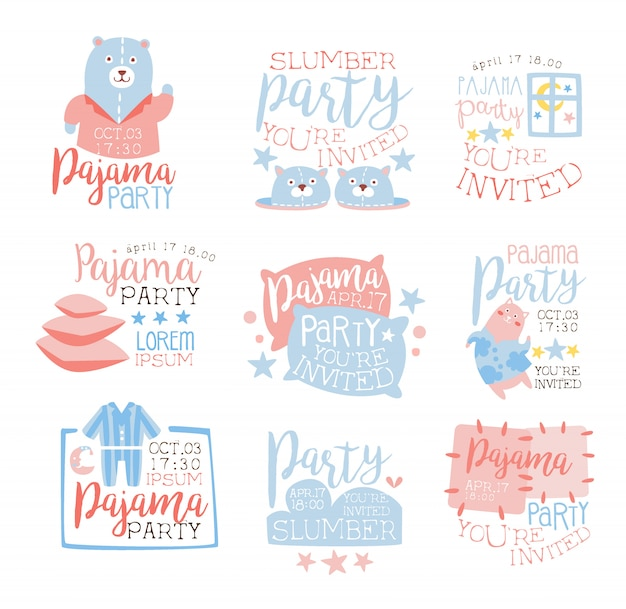 pyjama girly rose et bleu pour inviter
