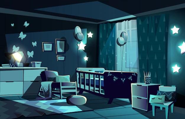 nuit au clair de lune vecteur