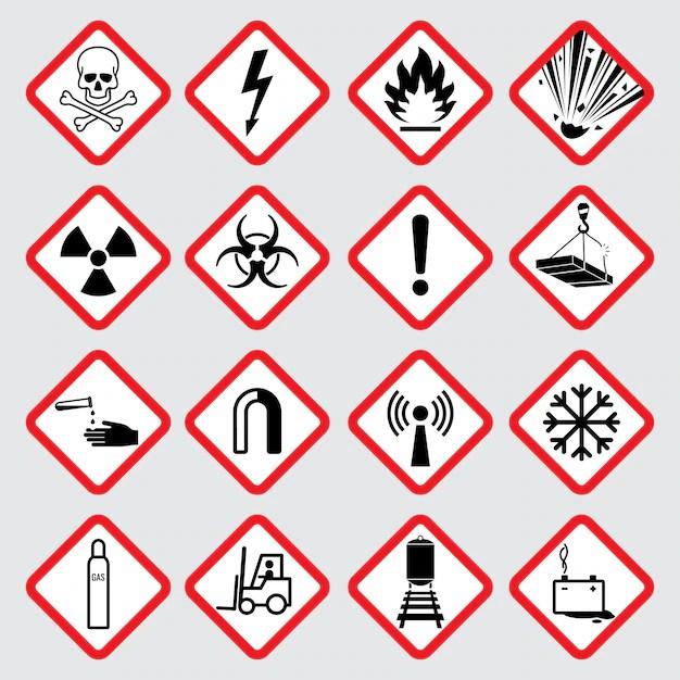 pictogrammes de vecteur de danger d