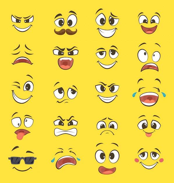 Caras Expresiones  Fotos y Vectores gratis