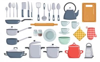 Utensilios De Cocina En Ingles Y Espanol Diseño Artesanal