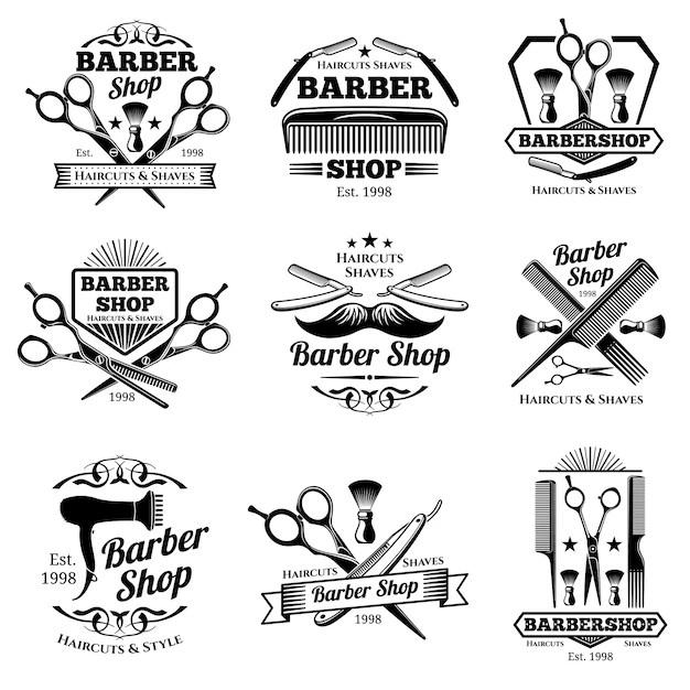logotipo de barbero fotos