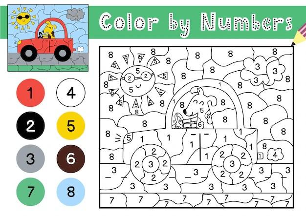 Malen Nach Zahlen Kinder Auto   Malen Nach Zahlen Bilder ...