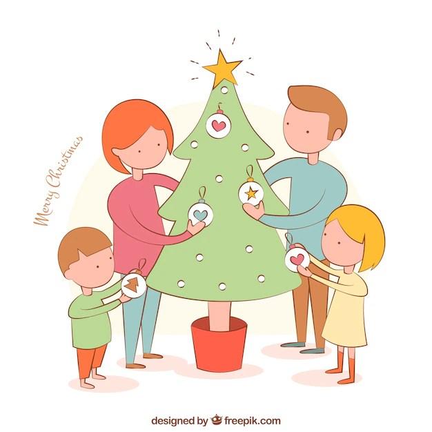 Disegnati a mano illustrazione vettoriale Albero di Natale gratis  Scaricare vettori gratis