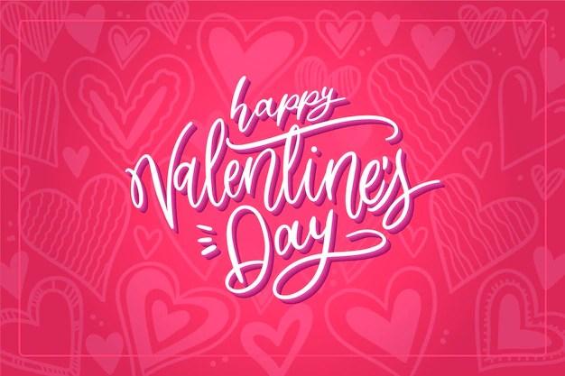 Valentijnsdag Achtergrond Van Harten Met Vaag Effect