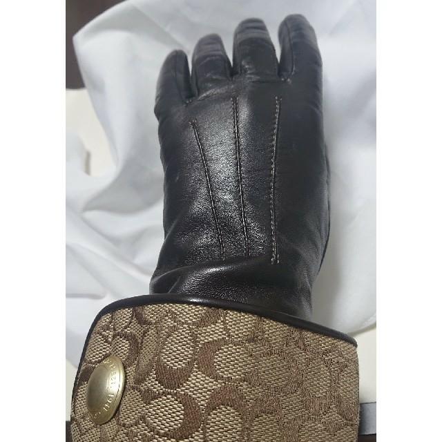 COACH - 箱付きCOACH レディース革手袋 ラム革グローブの通販 by ピザポテト's shop コーチならラクマ