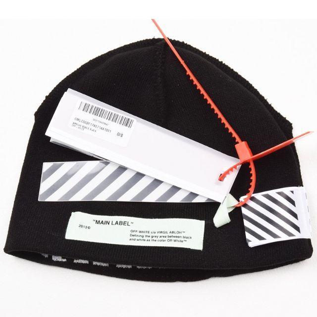 OFF-WHITE - Off-White オフホワイト ブラックニットキャップ 帽子 ...