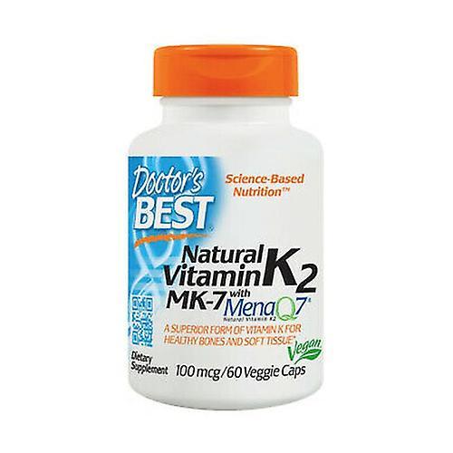 Natural Vitamin K2 MK7 with MenaQ7. 100mcg 60 vegetable capsules | Fruugo UK