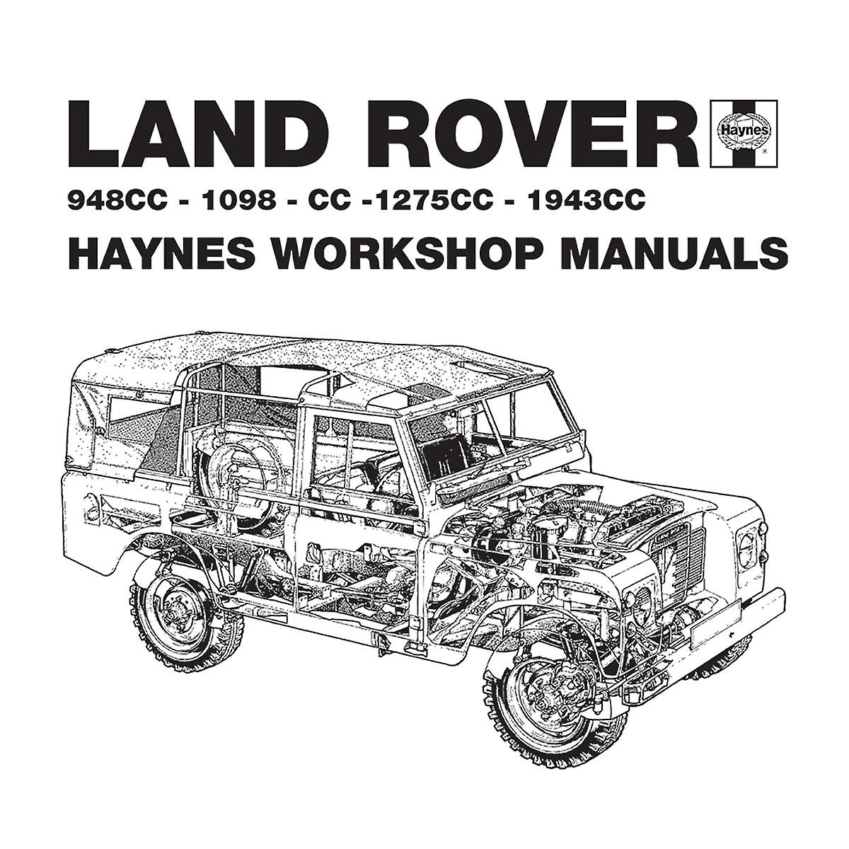 Haynes Workshop Manual Land Rover Black Men's Baseball