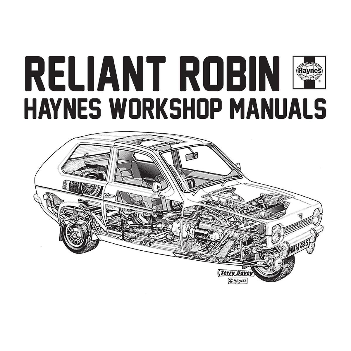 Haynes Workshop Manual Reliant Robin Black Women's T-Shirt