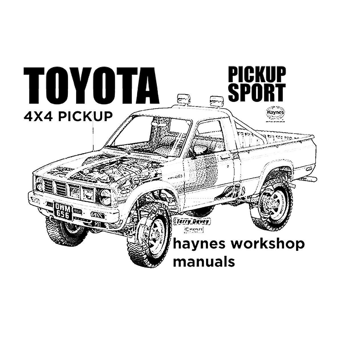 Haynes Workshop Manual Toyota Sport 4x4 Black Women's T
