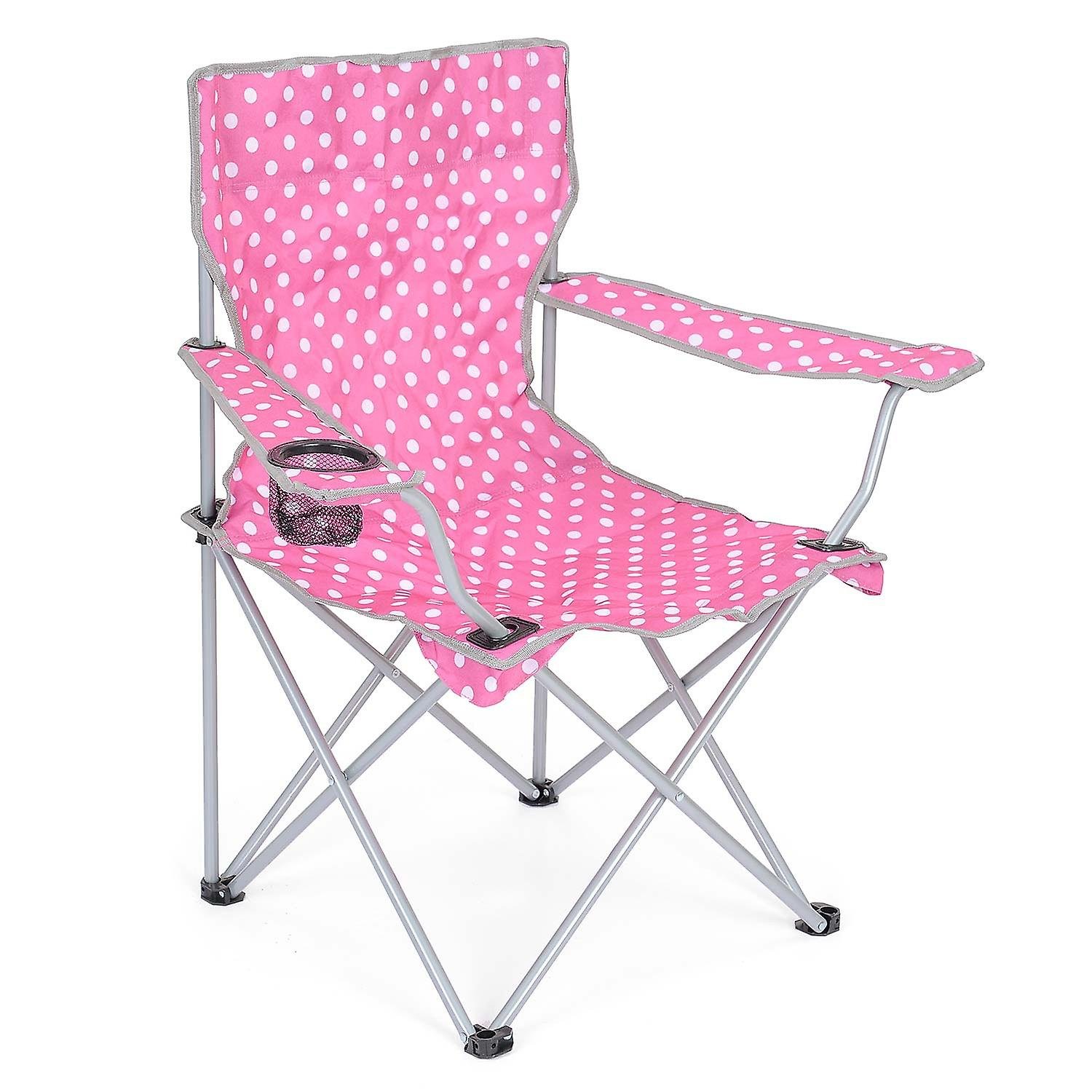 festival folding chair wedding covers hire melbourne camping lightweight beach outdoor travel seat polka dot