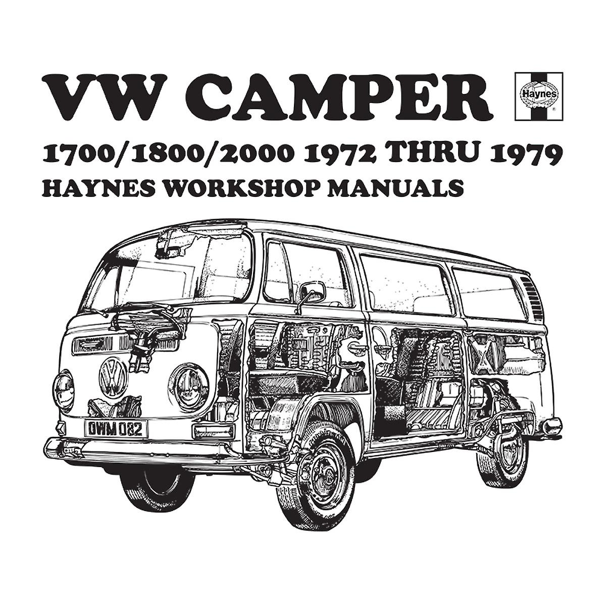 Haynes Workshop Manual VW Camper 72 To 79 Black Women's T
