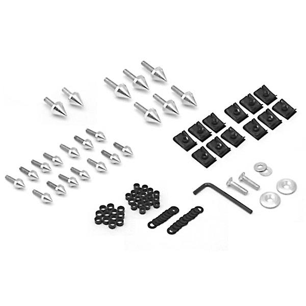 Motorcycle Spike Fairing Bolts Silver Spiked Kit For 1999