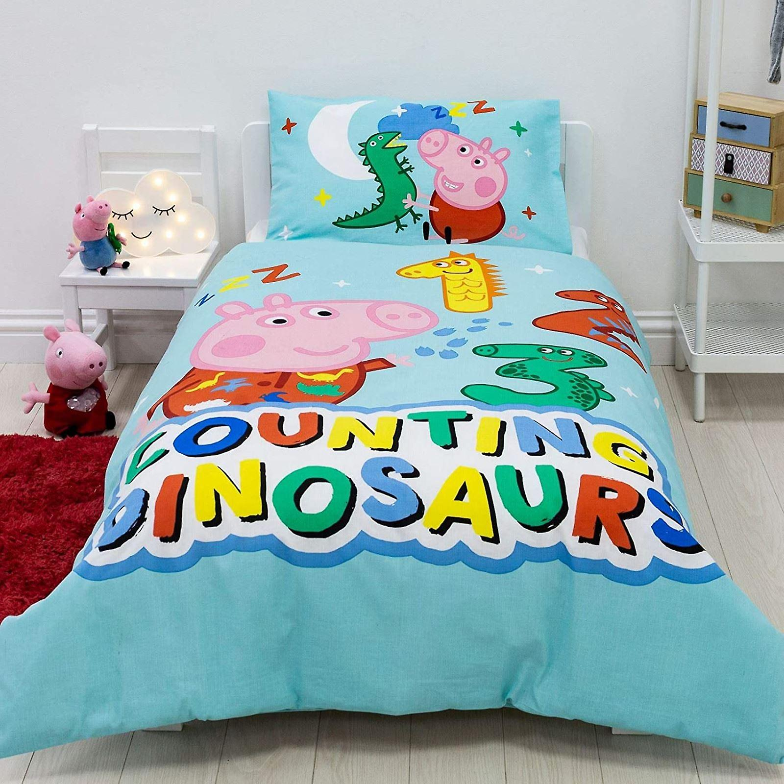 Would you like to make a pig coloring pages idea? Peppa Pig George Pig Counting Junior Duvet Cover Set Fruugo It