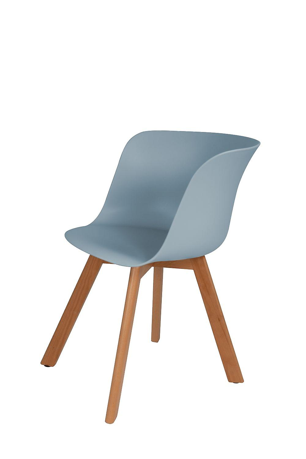 Set Of 4 Kitchen Chairs Shell Chair Chair Chairs Kitchen Chair Dining Chair Scandi Blue Set Of 4