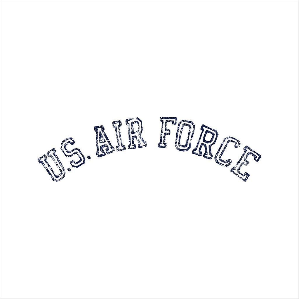 US Airforce Training Navy Blue Text Distressed Women's