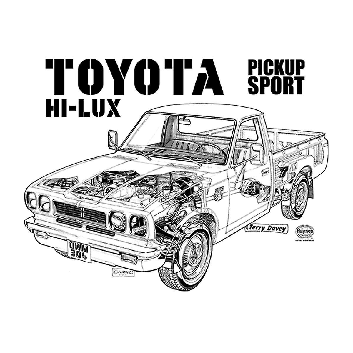 Haynes Workshop manuel Toyota Hi Lux sort dame T-Shirt