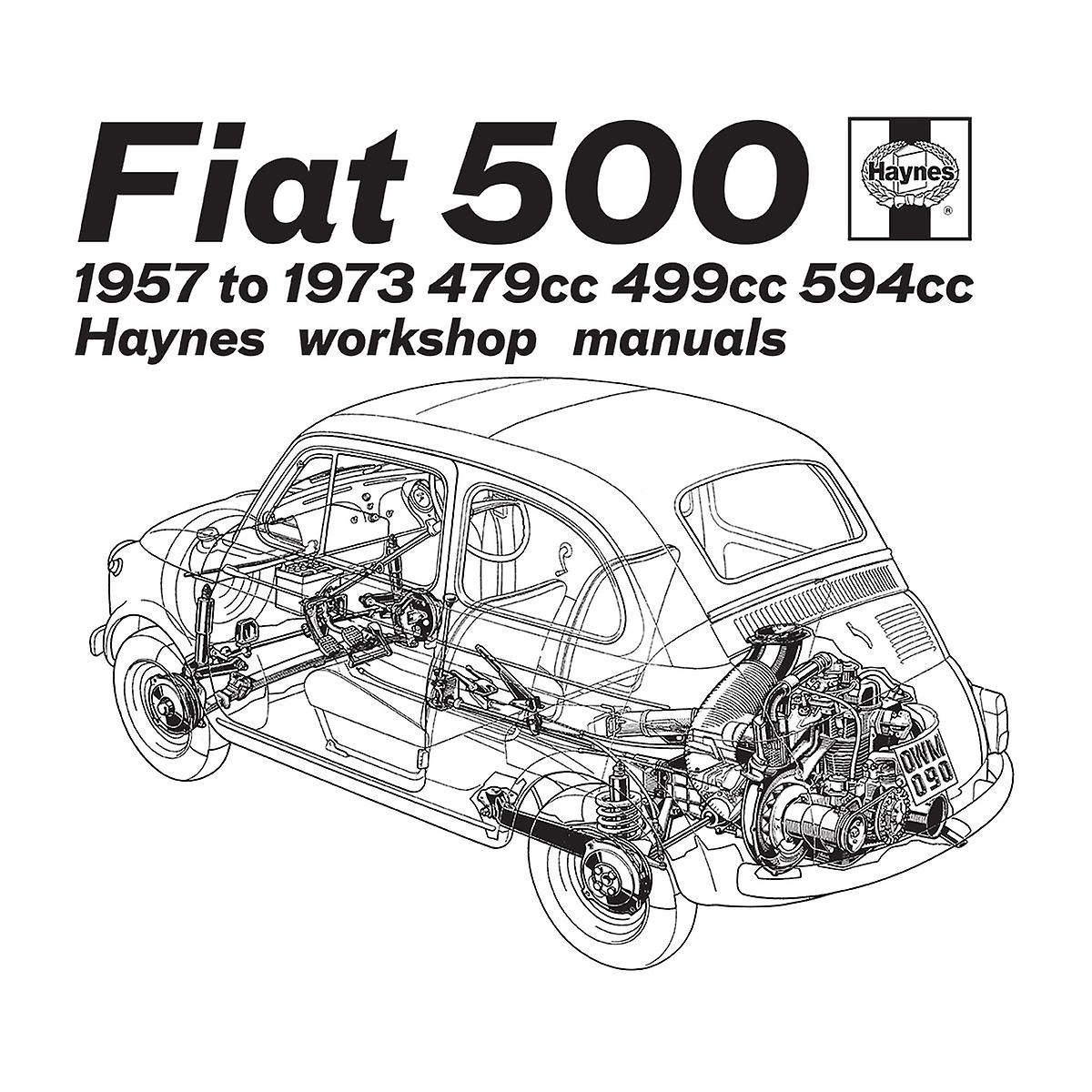 Haynes Workshop Manual Fiat 500 Black Men's Sweatshirt