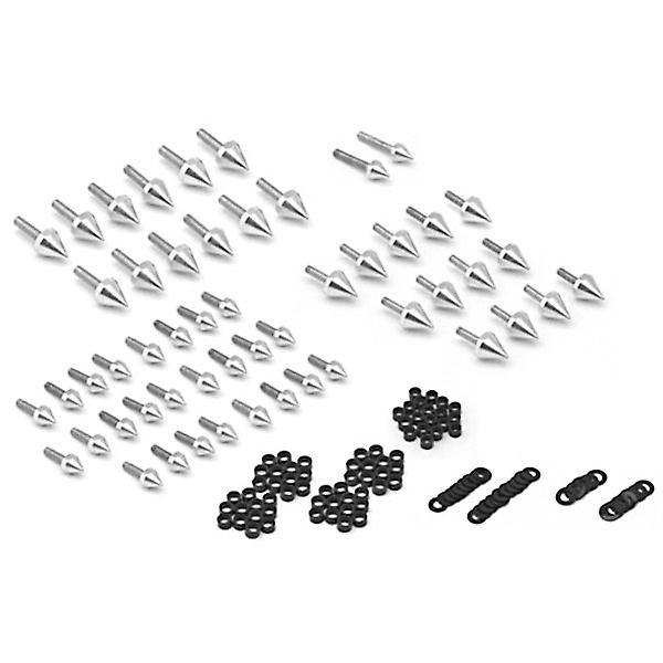 Motorcycle Spike Fairing Bolts Silver Spiked Kit For 2002