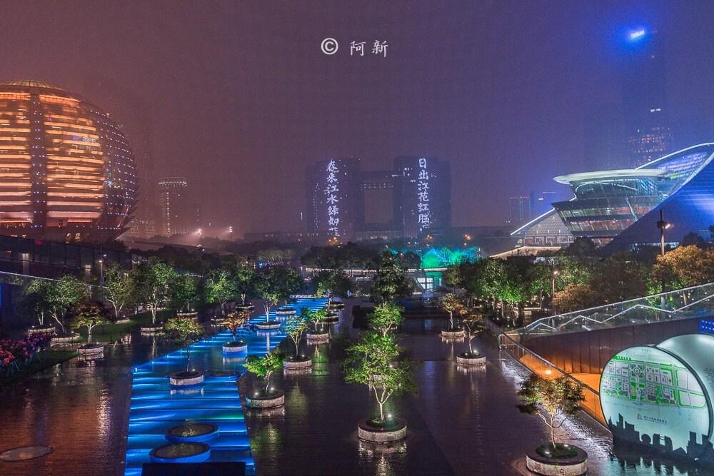杭州錢江新城燈光秀-13