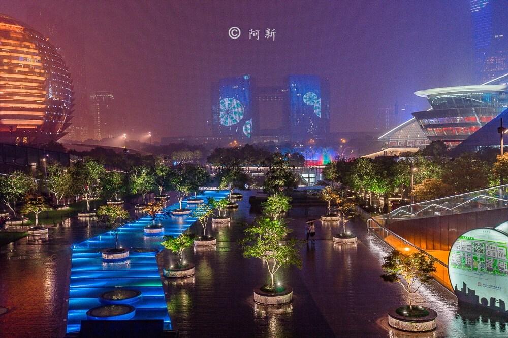 杭州錢江新城燈光秀-20