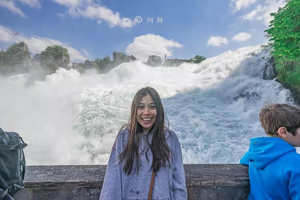 瑞士萊茵瀑布,萊茵瀑布,歐洲最大瀑布,瑞士旅遊,瑞士-23