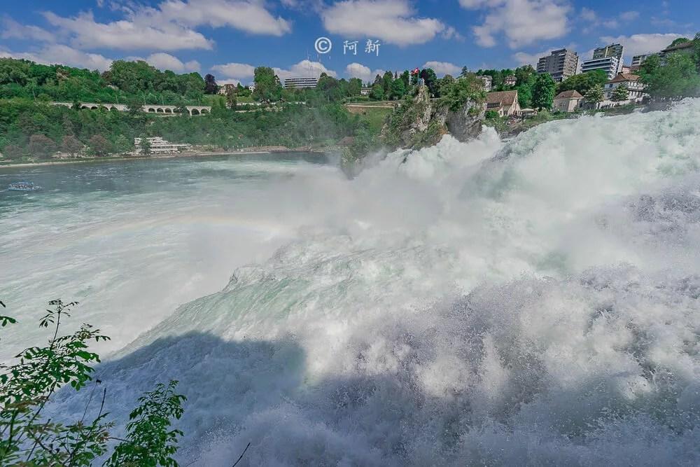 瑞士萊茵瀑布,萊茵瀑布,歐洲最大瀑布,瑞士旅遊,瑞士-32