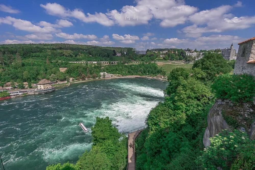 瑞士萊茵瀑布,萊茵瀑布,歐洲最大瀑布,瑞士旅遊,瑞士-38