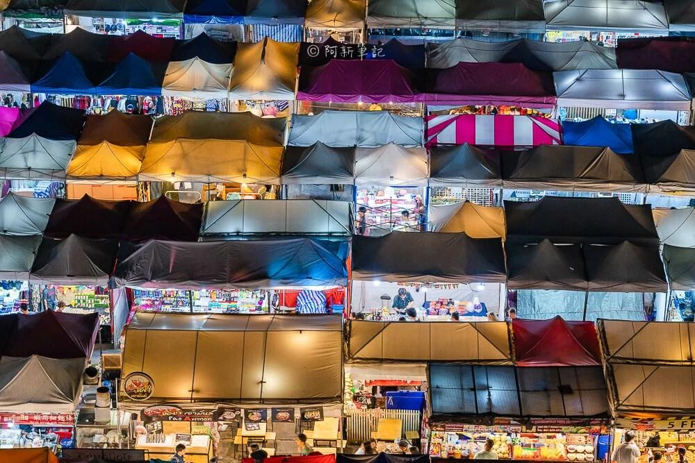 拉差達市集,曼谷火車夜市,泰國火車復古夜市,泰國火車夜市