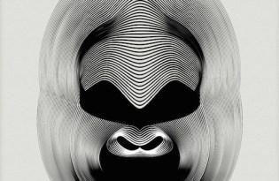 [平面設計]幾何線條動物圖騰-猩猩